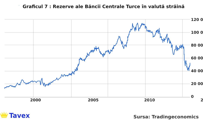 Rezerve ale Băncii Centrale Turce în valută străină