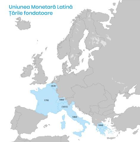 uniunea monetara latina tarile fondatoare